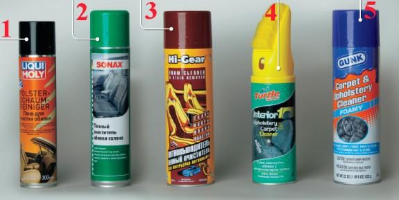 Средства для химчистки в домашних условиях
